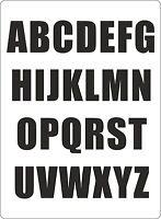 Set 26x aufkleber sticker buchstabe alphabet mulleimer tur schwarz