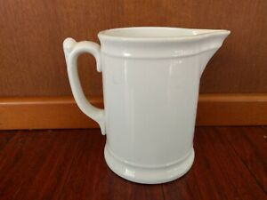 ANTIQUE K.T & K  CHINA KNOWLES TAYLOR WHITE IRONSTONE WATER PITCHER RESTAURANT