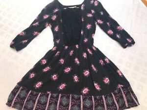 Abercrombie kids Blue pink blue floral 3/4 sleeve jersey dress girl's 13-14y.old