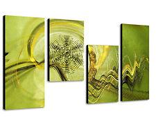 130x70cm Paul Sinus Art 4 teiliges Bild abstrakt - Blickfang für jede Wand edel