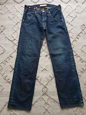 Levis 503 Mens Dark Blue Distressed Look  Jeans Loose Fit Size 32W 34L