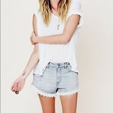 Jeans fp de encaje de corte Free People Pantalones Cortos De Mezclilla Talla 25