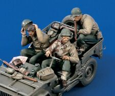 Verlinden 1/35 Willys MB US Army Jeep Crew and Accessories WWII (3 Figures) 1525