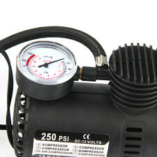 250PSI 12V Car Auto Portable Pump Tire Inflator Mini Air Compressor with Gauge