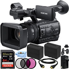 Sony Pxw-Z150 4K Xdcam Camcorder + 64Gb + Ext Batt + Filter Kit Bundle