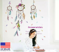 USA Removable Vinyl Wall Decal Family Dream Catchers Girl Room Home  DIY Decor