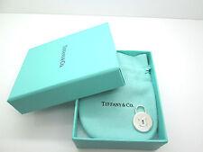TIFFANY & CO STERLING SILVER LOCKS VINTAGE ROUND LOCK PENDANT CHARM  MEDIUM .925