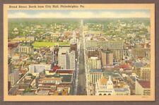 Vintage Postcard Unused Broad Street From City Hall, Philadelphia Pennsylvania