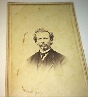 Antique Civil War Era Victorian American ID'd Man! James Paine! NY CDV Photo! US