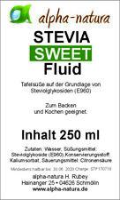 4x 250 ml Stevia Premium Flüssig - frei von Bitterstoffen - Hochdosiert!!