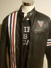 Triumph Patch On Moto Leather Jacket Mexico Eagle on Back Motorcycle