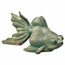 Nouveau design Toscano Big Eyes Natation buttterfly Koi Statue d'ambiance