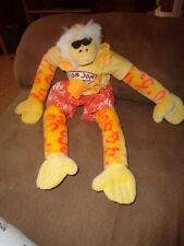 "Monkey Yellow Orange 16"" Stuffed Plush Berkeley Design 2002 Ron Jon Surf Shirt"