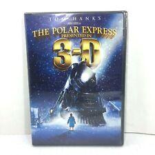 The Polar Express Dvd 3-D & 2-D Tom Hanks (2-Disc Set) 4 Pairs 3D Glasses Inside