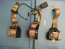 MERCEDES-BENZ W220 S430 S500 S600 3 PC REAR SEAT BELTS CENTER BUCKLE TAN