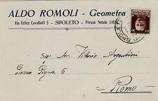 #SPOLETO- testatina- ALDO ROMOLI- geometra