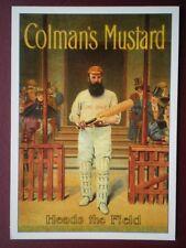 POSTCARD ADVERT COLMAN'S MUSTARD - HEADS THE FIELD -R OPIE