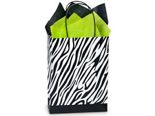 Set of 5 Paper Gift Bags PAW PRINT or ZEBRA You Pick Pattern