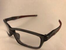 New Authentic Oakley Eyeglasses OX 8030 0655 Crosslink grey smoke maroon w case