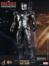 "HOT TOYS Iron Man 3 WAR MACHINE MARK II DIECAST 12"" Figure Sideshow Avengers"