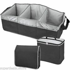 New Collapsible 2-in-2 Trunk Organizer/Cooler with 3 Large Main Compartments