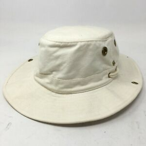 Tilley Endurables Mens OS Bucket Tilley Hat Cream White Cotton