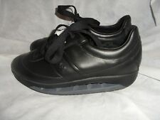 SCHOLL STARLIT MEN BLACK LEATHER LACE UP TRAINERS SIZE UK 12 EU 46 NWT
