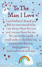 To The Man I Love Wallet Card Keepsake Love Verse Gift