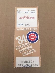 Ron Cey 2 HR #284 & #285 Home Run May 26 1985 5/26/85 Cubs Astros Ticket Stub