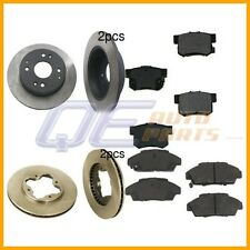 Full Brake Kit with Rotors and Semi Metallic Pads For Honda Accord 90-94 L4 2.2L