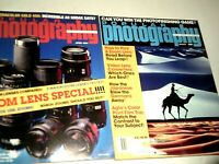 Popular Photography Magazine 1991 March April Lot of 2 Zoom Lens Special Issue