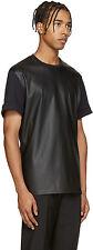 Neil Barrett Unisex Black Faux-Leather T-Shirt Size L