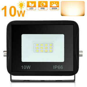 LED Fluter Outdoor Flutlicht IP66 Außen Scheinwerfer 230V Strahler 10W Warmweiß