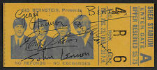 The Beatles Autograph & Concert Ticket Reprint On Genuine 1960s paper *9016