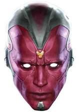 Vision Edad de Vengadores Ultron Marvel Oficial Individual Careta Cartón Fiesta