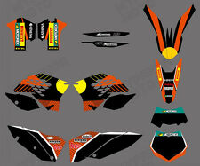 TEAM GRAPHICS & BACKGROUNDS DECALS FOR KTM SX XC XC-W EXC 2008 09 10 2011