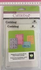 CUTTLEBUG Embossing Folder Set Robotz 2 x A2 size folders and 2 larger 5x7 folde