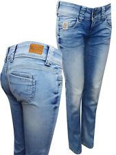 Pepe Jeans LIGHT-DENIM Venus Low Rise Regular Fit Straight Leg Denim Jeans NEW