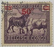 Belgian Congo #137 Used 1931 Watusi Cattle