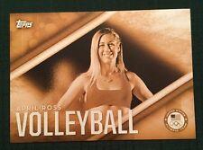 2016 Topps Olympics Gold 5X7 Jumbo Card April Ross USA Insert #/10 Rare