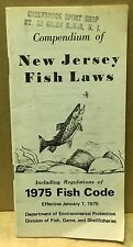 New Jersey 1975 Fishing Laws & Fish Code Pocket Guide Nj