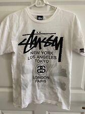 100% Authentic Stussy X Mastermind Skull Logo T-Shirt Sz S White Black