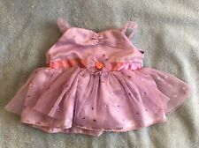Build A Bear Clothing: Purple Fluffy Dress Girls Plush Doll Outfit