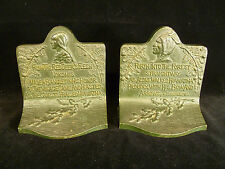 BEAUTIFUL BRADLEY & HUBBARD 'HIAWATHA & NOKOMIS' CAST IRON BOOKENDS – CIRCA 1925