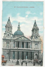 London - St. Paul's Cathedral - Vintage Star Series Postcard