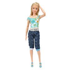 E-TING Casua Kleidung Jeans - Overall Jacke Jeans für Barbie-puppen-geschenk