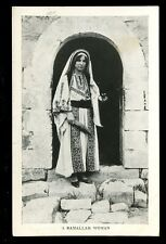 Palastine Israel A Ramallah Woman vintage PPC Missionary Film Committee
