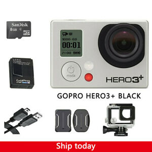 GoPro HERO 3+ Black Edition Camcorder With Battery+ 8G SD Card + Waterproof Case