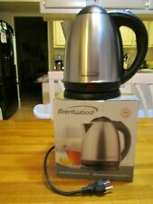 NIB Brentwood KT-1780 1.5L Stainless Steel Cordless Electric Kettle