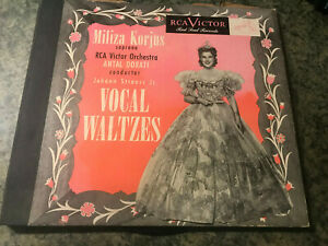 Miliza Korjus Sprano – RCA Victor Orchestra Album Vocal Waltzes 78 rpm